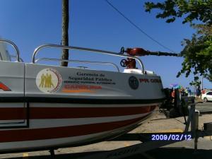 La nueva embarcación, observe el cañón que tiene la nave al frente