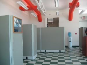 Concepto  cubículos de oficina